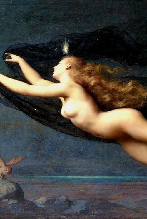 Auguste Raynaud 1850-1937 La Nuit, detail